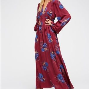 ISO Free People Wild Laurel Floral Maxi Dress